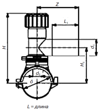 Седловой отвод э. с. SDR 11 PE 100 PN 10* «Elgef Plus»