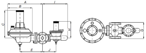Регулятор низкого давления газа 121BV (GasTeh)
